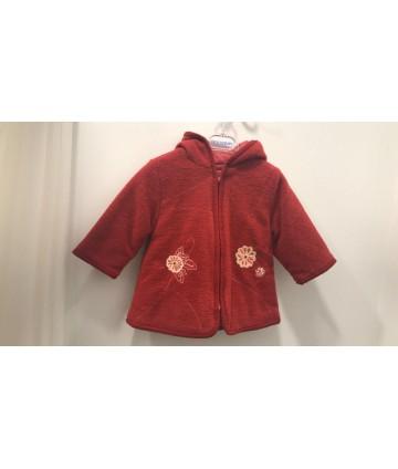 Abrigo bordado bebé niña